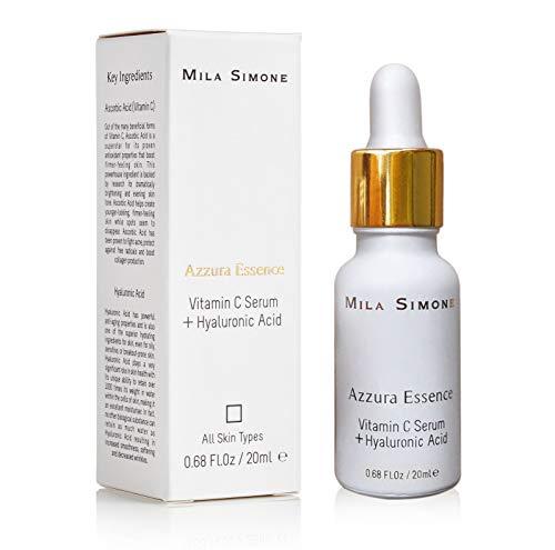LUSSUOSA - Siero Vitamina C per viso - Acido Ialuronico - Booster di collagene - Migliore anti invecchiamento e antirughe, aiuta a rimuovere l'acne