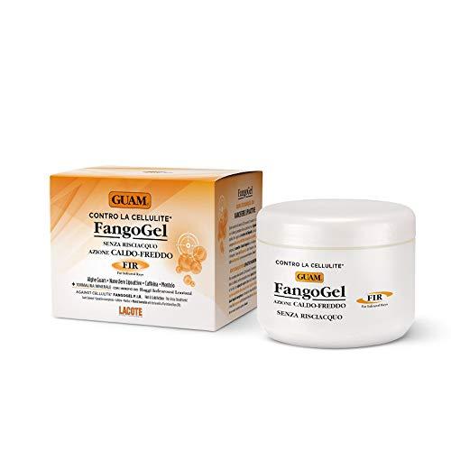 Guam Fangogel Contro la Cellulite Senza Risciacquo Azione Caldo-Freddo con Nanosfere Lipoattive, Caffeina, Mentolo, Giallo, 300