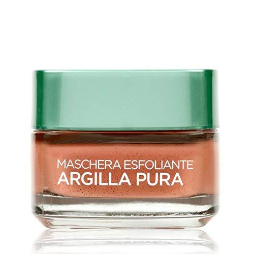 L'Oréal Paris Detergenza Maschera per il Viso Argilla Pura Maschera Viso Esfoliante, 50 ml