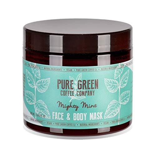 Maschera idratante e nutriente per viso e corpo di Pure Green Coffee Company. Freschezza alla menta, arricchita con caffè verde per una pelle idratata e intensa, adatto a vegani. 200 ml