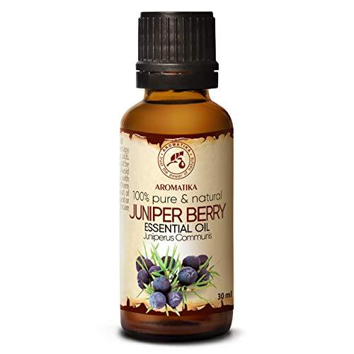 Olio Ginepro 30ml - Juniperus Communis - Aromaterapia - Aroma di Conifere - Oli Essenziale Puri di Bacche di Ginepro per Corpo - Diffusori - Relax - Umore - Sauna