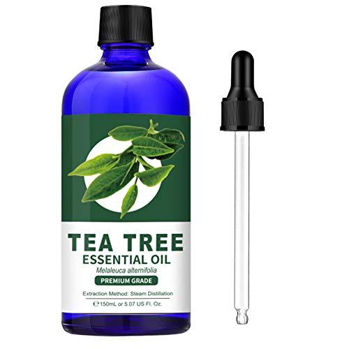 Olio essenziale di melaleuca Lagunamoon, oli per aromaterapia di grado terapeutico, olio dell'albero del tè puro per diffusori 4,5 fl oz