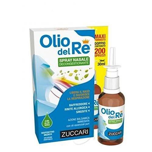 ZUCCARI - Olio del Re Spray Nasale Decongestionante, 30 Millilitri