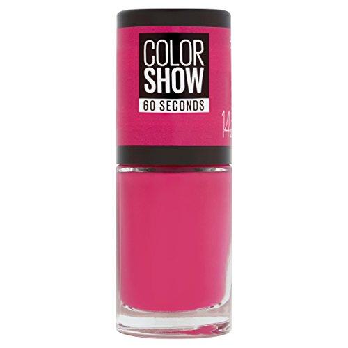 Maybelline New York Color Show Smalto Asciugatura Rapida, 14 Show Time Pink