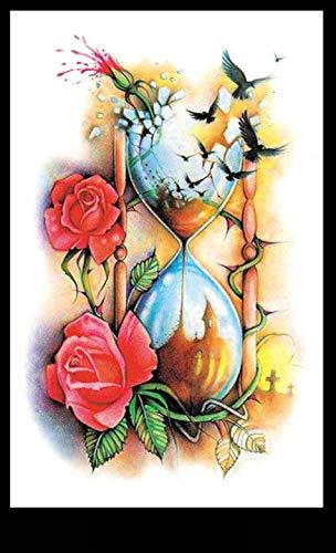 KTTO Braccio per Tatuaggio Adesivi per Tatuaggi Impermeabili Modello a Clessidra Uomini e Donne Moda Adesivi per Tatuaggi per metà Braccio per personalità Europea e Americana 8 Pz/Set 12X19 cm/Pz
