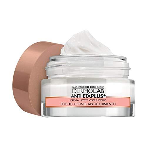 Dermolab Anti Età Plus+ Notte Crema Viso e Collo Per Pelli Mature Ml.50 Acido Ialuronico Effetto Anti-Cedimento