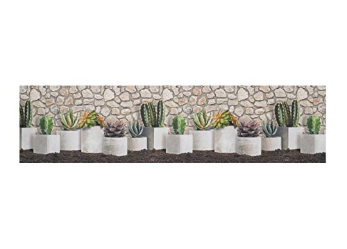 BIANCHERIAWEB Tappeto Passatoia Antiscivolo Stampa Digitale Sprinty Dis. Cactus Malaga 50x140 Malaga