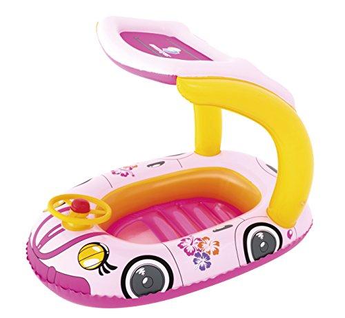 Bestway barchetta con volante e tetto parasole, per piscina, per bambini, protezione dai raggi UV