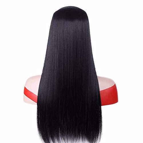 Extension per capelli, capelli finti, capelli finti, parrucche, extension per capelli, 100 cm, con clip, colore nero, marrone, naturale, capelli finti