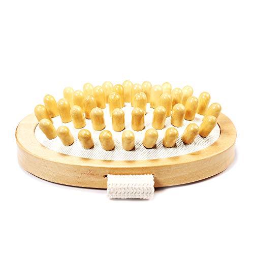 Festnight Massaggio FIN FINALE Spazzola per il corpo Scrubber Spazzola di legno naturale Spazzola per massaggio anticellulite