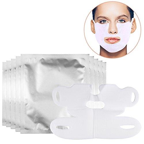 Maschera rassodante per lifting facciale a forma di V, per viso, mento, collo, sbiancante e rassodante (etichetta in lingua italiana non garantita)