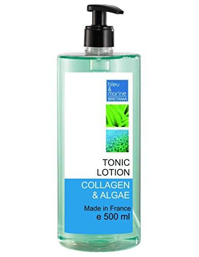 Lozione Tonica Collagene e Alghe 500 ml Lozione Pulizia Riduttore Pori senza alcool - Tutti i tipi di pelle