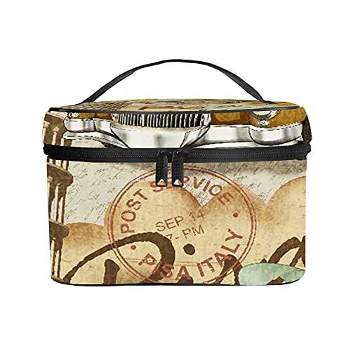 Borsa cosmetica da viaggio portatile da donna,borsa per il trucco,Manifesto d'epoca Pisa,borsa da toilette ricevente borsa multifunzione