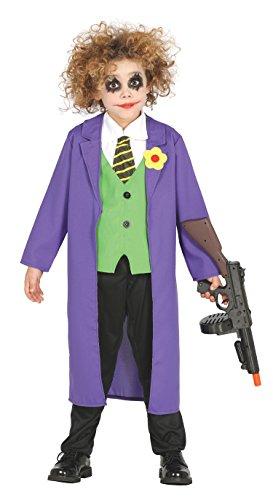 Guirca-87324 The Costume da Joker Bambino 10/12, Viola e Verde, Taglia 10-12 Anni, 87324