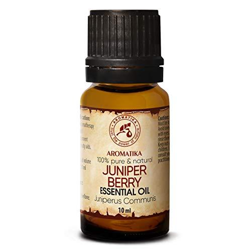 Olio di Ginepro 10ml - 100% Puro & Naturale - Macedonia - Juniperus Communis - Aromaterapia Diffusore - Lampada Aroma - SPA - per Cura Pelle & Capelli - Juniper Berry Oil