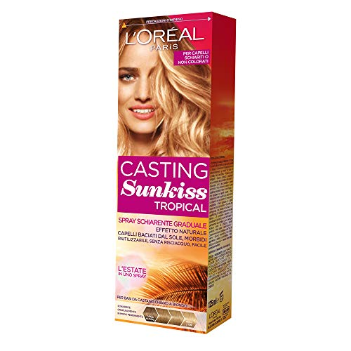 L'Oréal Paris Spray Schiarente Graduale Casting Sunkiss Tropical Colore Da Castano Scuro a Biondo