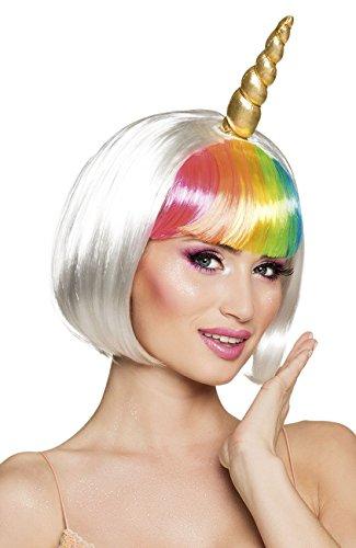 Boland 85820 - Parrucca Donna Unicorno Moonlight con Corno, Multicolore, Taglia Unica