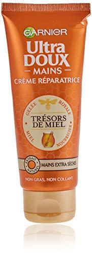 Garnier Ultra Dolce Tesori di Miele- Crema mani riparatrice per pelli molto secche asciutte, 75 ml