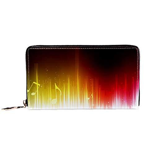 XCNGG Portafoglio donna con cerniera e pochette per telefono, borsa da viaggio in pelle pochette porta carte organizer da polso portafogli, futuristico astratto musica di sottofondo