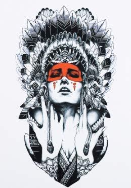 Tatuaggi donna indiana Tatuaggi in flashTemporanei HB414 Adesivi per corpo colore morbido