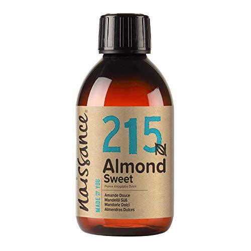 Naissance Mandorle Dolci Naturale 250ml – Vegan, senza OGM – Ideale per la cura della Pelle e dei Capelli, l'Aromaterapia e come olio da Massaggio di base