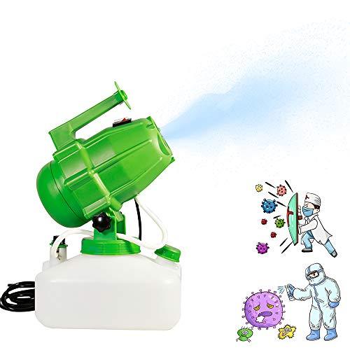 Vogvigo Nebulizzatore Elettrico ULV 1200W Atomizzatore Portatile 5L Nebulizzatore per pesticidi Cavo di Alimentazione 5M Distanza di spruzzo 8M per Indoor Outdoor Garden Home Hotel School (Verde)