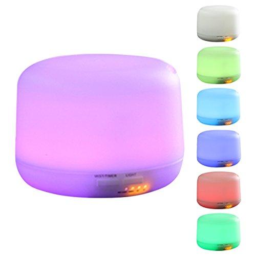 ELEGIANT - Diffusore per aromaterapia, lampada d'atmosfera, umidificatore a ultrasuoni con aroma, portatile, 7 luci Led, diffusore di oli essenziali, 300 ml, per spa, yoga, casa, ufficio