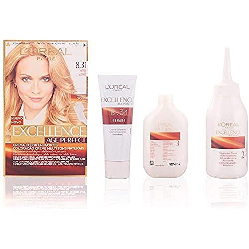 L'Oréal Excellence Age Perfect Tintura Capelli Biondo, Dorato - 100 ml
