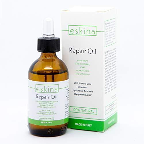 Eskina Repair Oil trattamento smagliature pelle cicatrici disidratazione pelle combatte invecchiamento cutaneo idrata le smagliature in gravidanza elasticizzante cicatrici rende la pelle idratata