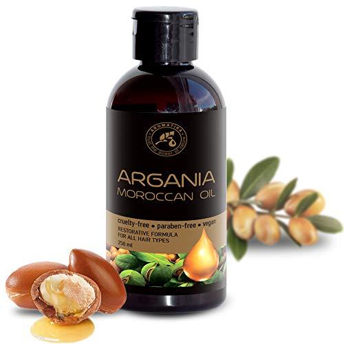 Olio di Argan 250ml - Puro e Naturale al 100% - Olio di Argania Spinosa Kernel - Marocco - Miglior Olio per Capelli - Buono per la Pelle - Viso - Cura del Corpo - Olio Argan