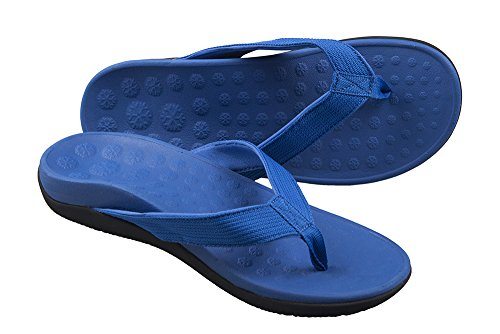 PRO 11 WELLBEING - Sandali ortopedici con grande supporto per arco ultra comfort, Blu, 40 EU