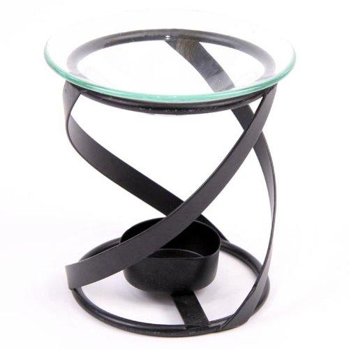 Puckator OB98 - Diffusore per Oli Essenziali con Supporto a spirali in Metallo, 10 x 10 x 11 cm
