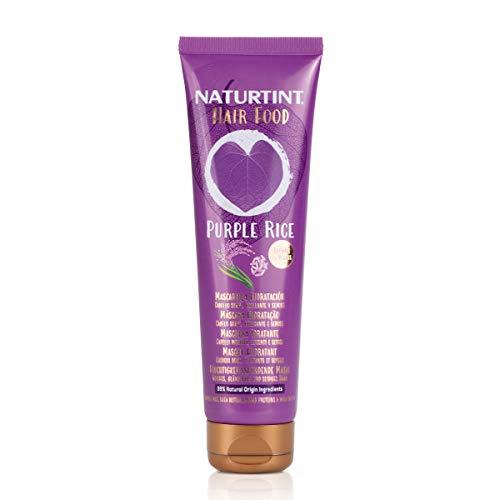 Naturtint Hair Food Maschera Riso Viola. Maschera per capelli idratante. Capelli morbidi, lucenti e setosi. Ingredienti naturali al 99%. 150ml