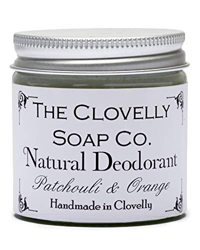 Clovelly Soap Co Balsamo Deodorante Naturale e Fatto a Mano al Patchouli & Arancia, Barattolo di Vetro da 60gr