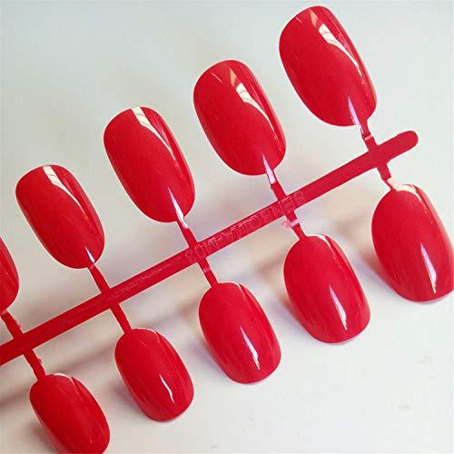 Unghie finte artificiali ovali in plastica trasparente morbida rosa unghie finte caramelle breve unghie 24 pz/set P01Q P63