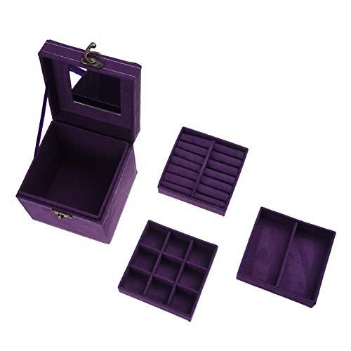 SSCWH Trinket Makeup Beauty Travel Vintage Box Case Viola