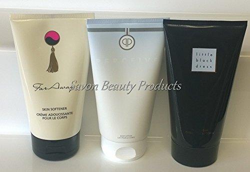 Avon, lozione per il corpo, profumata, in crema, idratante, per la pelle, disponibile nelle fragranze: Far Away, Little Black Dress e Perceive, 3 flaconi