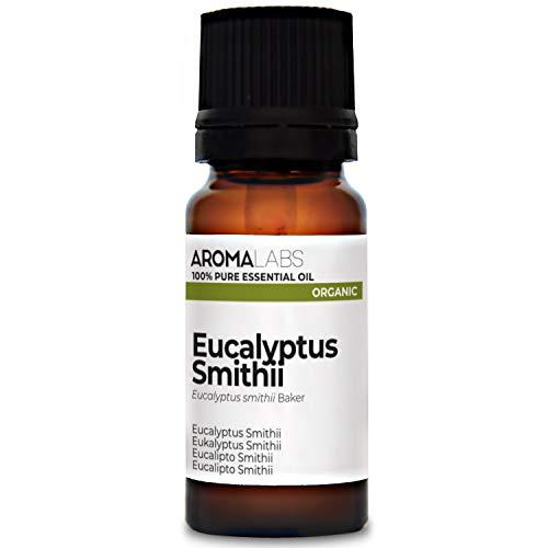 Aroma Labs Eucalipto Smithii Bio - 10Ml - Olio Essenziale Bio E Naturale Al 100% - Qualità Verificata Mediante Cromatografia - Aroma Labs - 10 ml