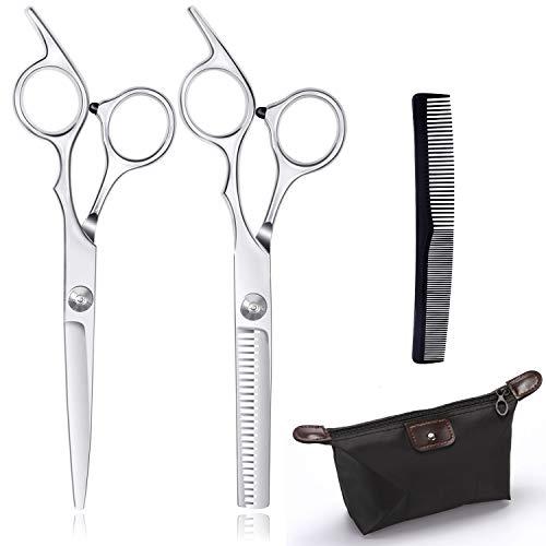 Forbici professionali per tagliare i capelli, forbici da parrucchiere, in acciaio inox, forbici professionali per parrucchieri, per uomini e donne e bambini (Sliver)