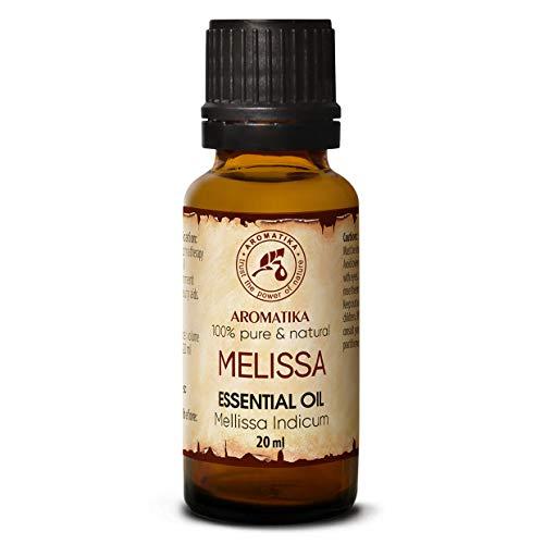 Olio di melissa 20ml - Melissa Indicum - India - 100% Puro & Naturale - Melissa Miglior Olio per Aromaterapia - Aroma Bath - Diffusore - Home Fragrance - Olio Melissa di Aromatika
