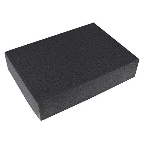 HMF, schiuma a dadi, 345 x 275 mm, inserto per valigia, piano del tavolo, diverse altezze, modello 1458  100 mm