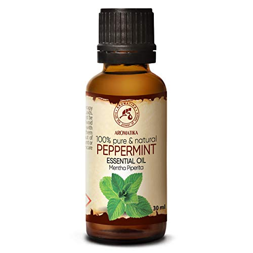Olio Essenziale di Menta Piperita 30ml - India - 100% Naturale & Puro - Calmante Naturale - Buon Sonno - SPA - Aromaterapia - Massaggio - Relax - Peppermint Essential Oil