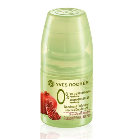 Yves Rocher, deodorante fresco al melograno dalla Spagna 0% sali di alluminio: 0% sali di alluminio, 0% parabeni