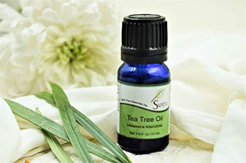 SVATV - 100% puro olio essenziale di tea tree (melaleuca alternifolia) non diluito, di grado terapeutico; in flacone da 10 ml