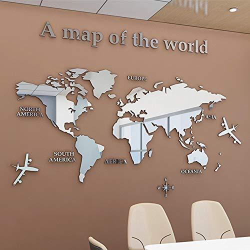 3D Mappa Del Mondo Wall Sticker Adesivi Adatto Per Adesivi Murali Parete Sfondo Divano Soggiorno Ufficio Mappa Del Mondo Wall Sticker Home Decor