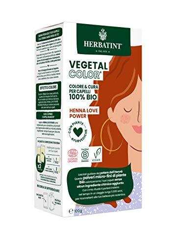 Herbatint Vegetal Color – Colorazione vegetale 100% naturale e bio HENNA LOVE POWER – Henné puro 100 gr