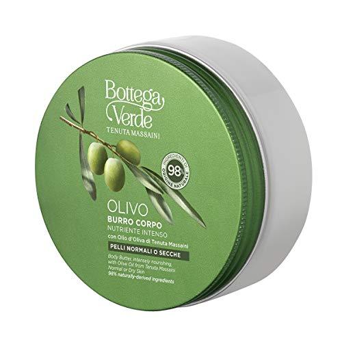 Bottega Verde, OLIVO - Burro corpo, nutriente intenso, con olio d'Oliva di Tenuta Massaini (150 ml) - pelli normali o secche
