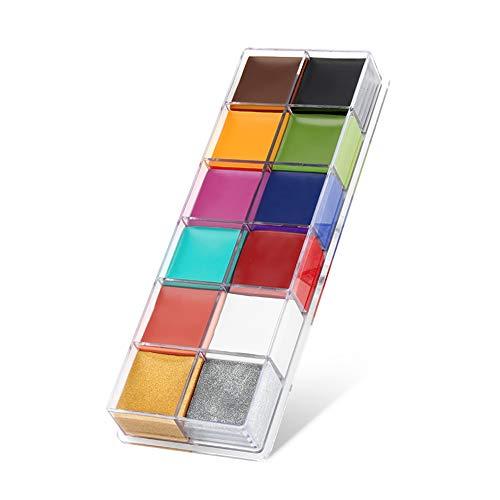 Set da 12 colori brillanti per body painting, per feste di Halloween