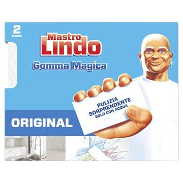 Mastro Lindo Gomma Magica, 2 Pezzi, Rimuove le Macchie e i Segni più Difficili