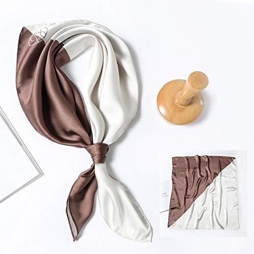 Sciarpa Scialli Sciarpa di Seta di Alta qualità Donna Collo Quadrato Fascia per Capelli Foulard Fazzoletto da Collo Femminile Scialli E Involucri Bandana Sciarpe Fc3